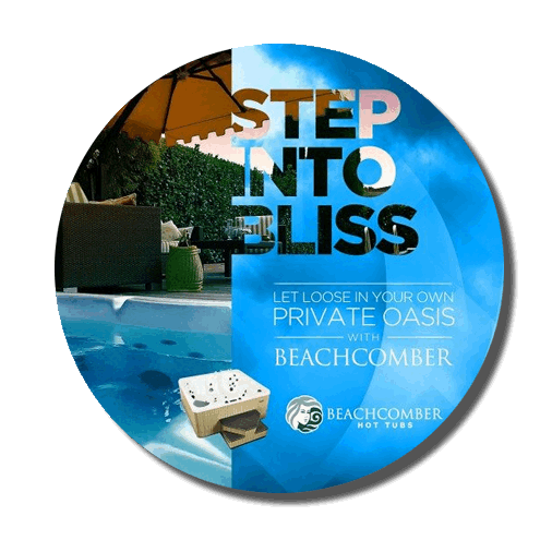 Step into Bliss with a beach comber hot tub